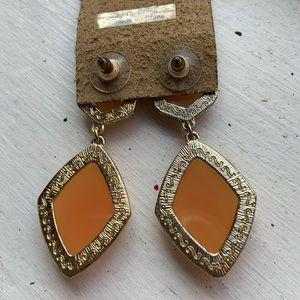 Francesca's Collections Jewelry - Orange | Diamond Statement Earrings